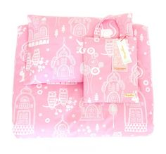 Palace Garden cotbed bedding set in Pink   Nubie - Modern Baby Boutique