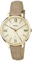 Fossil Women's ES3487 Jacqueline Three Hand Leather Watch – Camel
