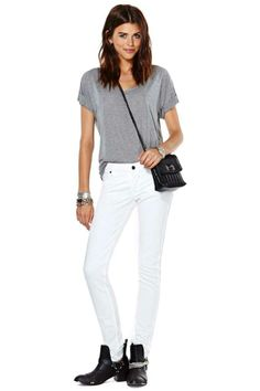 Lee PFD Skinny Jean - White
