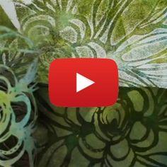 Mixed-Media Stencil Techniques by Traci Bautista