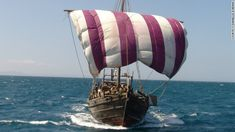 A British man hopes to sail a replica Phoenician boat to America -- showing it could have been reached a thousand years before Columbus. Phoenician, Christopher Columbus, World History, Worlds Of Fun, Sailboat, Sailing Ships, Norway, Native American, Impressionism