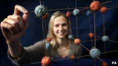 The very first molecular model, made from yarn and knitting needles.