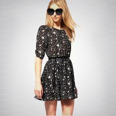 Hot Sale Stars Chiffon Dress  ($33, originally $39.6) http://www.udobuy.com/goods-10366.html#.Ugr99tL8m9M