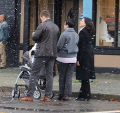 Lana, Josh and Ginnifer on the set - 4 * 10 Behind the scenes. 22 October 2014