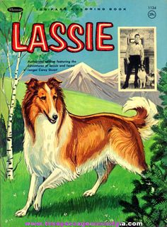©1965 Whitman Lassie Coloring Book I loved Lassie, the tv show