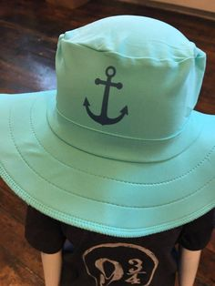 UPF 50 Kids Custom Sun Hat with custom design by Swimlids. Sun Hat for the  beach. Customize with anchor cf86b2132f32