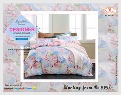 100% Cotton Double Bed Dohar/AC Blanket from Signature. #blankets #Dohars #ACBlankets