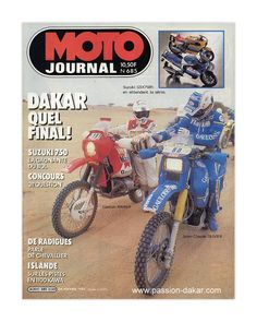 Cover Magazine Moto Journal 1985 - La Storia della Parigi Dakar
