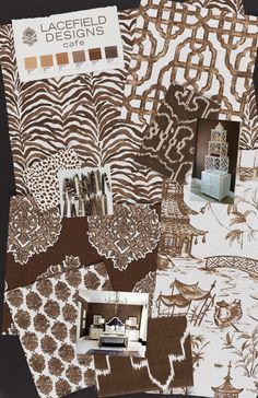 Lacefield Designs Cafe #Textile #Moodboard June 2013 #textiletrends #blockprint  www.lacefielddesigns.com