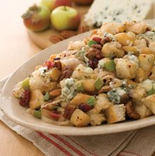Caramelized Apple, Pecan and Roquefort Cheese Stuffing for Thanksgiving dinner