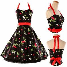 Flower Swing Dress Party Prom Dress Rockabilly Pin Up Retro Vintage Garden Prom Dresses, Pin Up Dresses, Prom Party Dresses, Cute Dresses, Evening Dresses, Dress Party, Formal Dresses, Retro Vintage Dresses, Vintage Mode