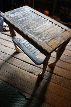 Shutter Tables On Pinterest Shutter Table Vintage