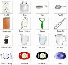 Image Result For Kitchen Tools With Names One By One Design