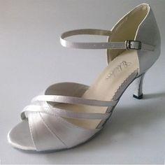 Latin Customized Women's Sandals Customized Heel Satin Dance Shoe – USD $ 29.99
