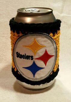 Pittsburgh Steelers beer can sleeve etsy.com selectme1