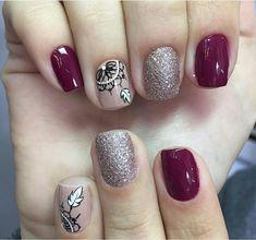 Trendy Nails, Cute Nails, My Nails, Hair And Nails, Nail Art Designs Images, Valentine Nail Art, Flower Nails, Gorgeous Nails, Swag Nails