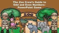 This zoo animal themed PowerPoint game reviews the concept of odd and even numbers.