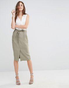 Sisley+Tie+Waist+Skirt