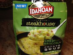 Gluten Free Product Review - Idahoan Premium Steakhouse Cheddar Broccoli Potato Soup Mix http://wp.me/p2TQ6B-Q5