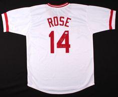 """Pete Rose Signed Cincinnati Reds Jersey Inscribed """"Hit King"""" (JSA Autograph COA) #CincinnatiReds"""
