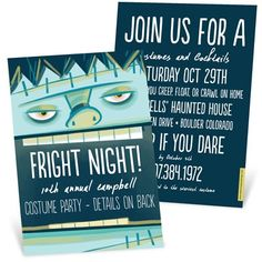 Having a costume party for your event? Get creative with your invitations!