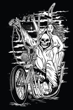 Interview with Phil Guy Motorcycle Art, Bike Art, David Mann Art, Biker Tattoos, Knuckle Tattoos, Flame Art, Unique Drawings, Garage Art, Chicano Art