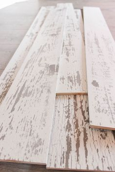 Timeline Wood Distressed White Wood Panels