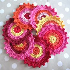 another gorgeous colorful set of crocheted circles