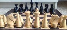 Modern chess set.