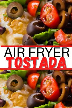 Air Fryer Tostadas are the perfect flat homemade taco shell with or without meat! These open-faced tacos are super crispy and ready in just 6 minutes each! #airfryer #tostada #airfryertostada #Vegetarian