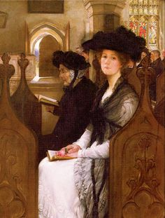 """""""Wandering Thoughts"""" by Francis David Millet (1846-1912)."""