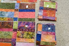 "Though this was posted to illustrate ""How to Make a Quilt Design Wall,"" I love the color and design!"