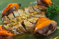 Tropical Pork or Chicken and Sweet Potato Dinner