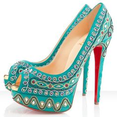 Christian Louboutin Bollywoody 150mm Pumps Turquoise