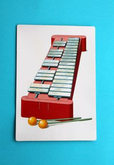 X is for Xylophone Giant Flash Card Alphabet Picture by LifesAYoyo