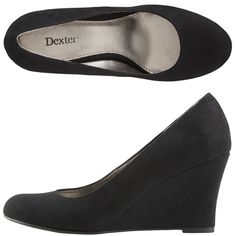 I bought these wedges in black and I love them.  They go wonderfully with a skirt or jeans (skinny or boot cut). The wedge heel really takes pressure of your feet, but they give you that beautiful lift we all look for in heels!
