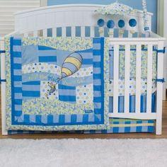 Trend Lab Dr. Seuss Oh The Places You'll Go! 4 Piece Crib Bedding Set Color: Blue