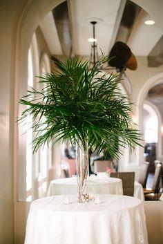 Elegant Palm Leaf Centerpiece