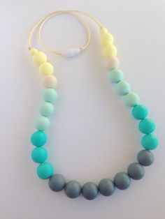 Silicone Teething Necklace Nursing by LittleLemonTreasures on Etsy