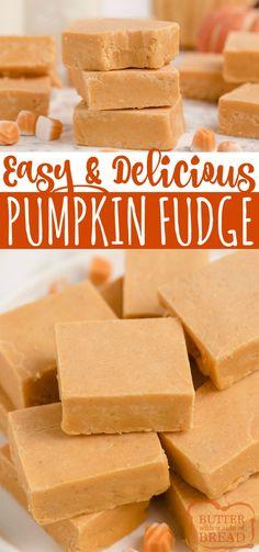Easy Candy Recipes, Fall Dessert Recipes, Fudge Recipes, Sweet Desserts, Fruit Recipes, Pumpkin Recipes, Fall Recipes, Delicious Desserts, Yummy Food