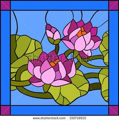 Imagens, fotos stock e vetores similares de Water lily composition / Stained glass window - 150716015 Stained Glass Paint, Tiffany Stained Glass, Stained Glass Flowers, Stained Glass Crafts, Stained Glass Designs, Stained Glass Patterns, Stained Glass Windows, Glass Painting Designs, Glass Art Pictures