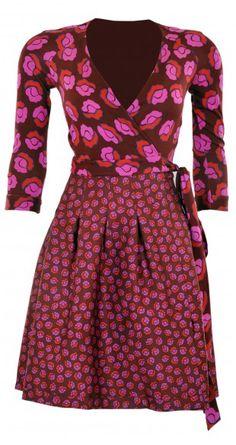 Jewel Silk Combo Pleated Wrap Dress #DianeVonFurstenberg