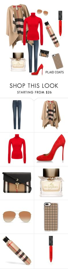 """""""Plaid in Burberry"""" by kotnourka ❤ liked on Polyvore featuring Paige Denim, Burberry, Givenchy, Dsquared2 and Casetify"""