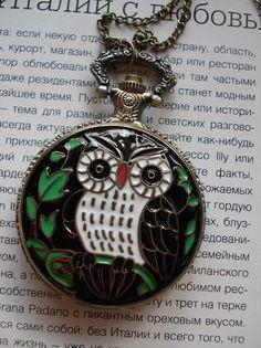 Necklace Pendant Owl bronze Pocket Watch quartz by Azuraccessories Owl Jewelry, Jewelry Box, Vintage Jewelry, Jewelry Accessories, Ball Necklace, Pendant Necklace, Trendy Clothing Stores, Luxury Purses, Cute Owl