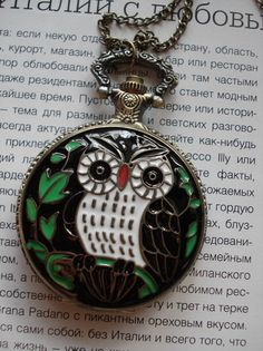20 HOLIDAY SALE Necklace Pendant Owl bronze by Azuraccessories, $6.99