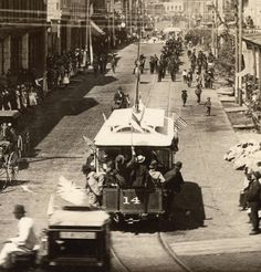 Cordova Street tram, Tuesday 1 July 1890 Source: City of Vancouver Archives (cropped) Local History, History Facts, West Coast Canada, Vancouver British Columbia, Past Tense, New West, Most Beautiful Cities, Historical Pictures, The Past