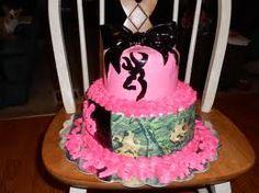 camo girls birthday cake<3