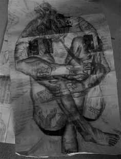 Ashley Conner: layered figure drawings
