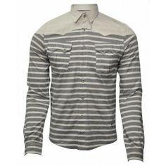 BOLONGARO TREVOR WENLOCK SHIRT NAVY/BONE - Shirts - Menswear Menswear, Leather Jacket, Navy, Jeans, Long Sleeve, Sweaters, Mens Tops, How To Wear, Jackets
