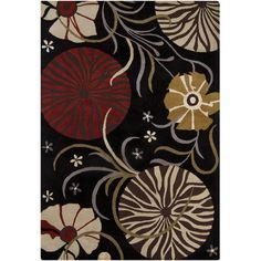 Red Barrel Studio Jonas Black Area Rug Rug Size: 7' x 10'